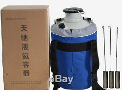 Free shipping 20L Cryogenic Liquid Nitrogen Container LN2 Tank Dewar with Sleeve