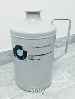 International Cryogenics LN Liquid Nitrogen Dewar Tank IC-5D 5 Liter Capacity