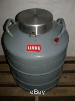 Linde Super 30 Liquid Nitrogen Dewar with 10 canisters cryogenic tank vessel