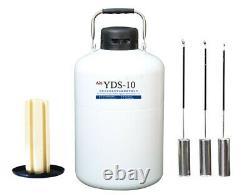 Liquid Nitrogen Dewar 10L Liquid Nitrogen Tanks 10L Liquid Nitrogen Containers