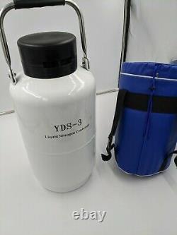 Liquid Nitrogen Tank YDS-3-50 Cryogenic Freezing Equipment 3L Dewar Vessel USA