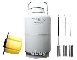 Liquid nitrogen containers yds-10-125 ln2 tanks 10l liquid nitrogen dewar flask