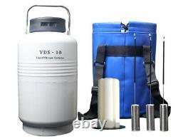 Liquid nitrogen tanks YDS-10-80 liquid nitrogen storage containers 10l ln2 dewar