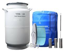 Ln2 tank yds-10-210 liquid nitrogen containers 10l liquid nitrogen dewar flask