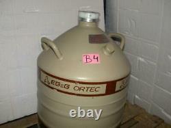 MVE Cryogenics EG & G Ortec model AL-30 Liquid Nitrogen Storage Flask Dewar