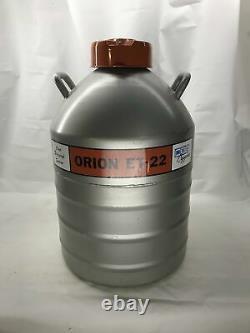 MVE Cryogenics Orion ET-22 Liquid Nitrogen Dewar Vacuum Vessel Cryo Tank