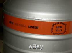 MVE Dewar Cryogenics Orion ET-44 Liquid Nitrogen Vacuum Vessel Tank 10 canisters