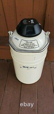 MVE LAB 10 LITER LIQUID NITROGEN Storage Canister/Dewar. Made by Brymill