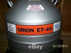 MVE ORION ET-44 LIQUID NITROGEN CRYOGENIC DEWAR With Stand