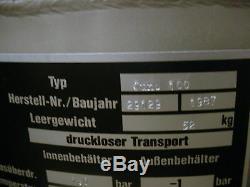 Messer Griesheim Juno 100 Cryogenic Dewar Tank Liquid Nitrogen Semen