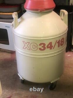 Princeton Cryogenics, Mve 34/18 Liquid Nitrogen Dewar, Id# 300353