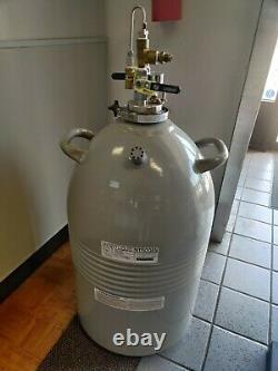 Set of 2 Taylor-Wharton Dewar Liquid Nitrogen Tanks LD50 50LDB 50 Liter Tank
