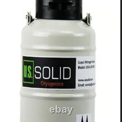Solid 3 L Liquid Nitrogen Sperm Semen Container Cryogenic LN2 Tank Dewar + Strap