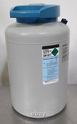 T165968 International Cryogenics IC-20D Liquid Nitrogen LN2 Storage Dewar 20L