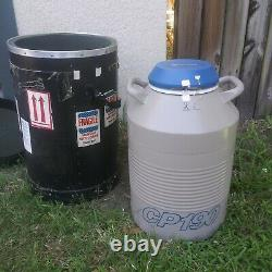 TAYLOR-WHARTON CP190 Liquid Nitrogen Aluminum Cryogenic Dewar with Dry Shipper