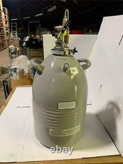 TAYLOR-WHARTON LD25 25 LITER Aluminum Cryogenic Dewar FOR LIQUID NITROGEN