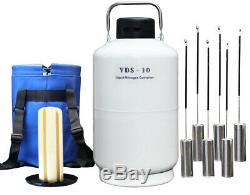 TIANCHI Liquid Nitrogen Tanks 10 Liter Cryogenic Containers LN2 Dewar Flask 10l