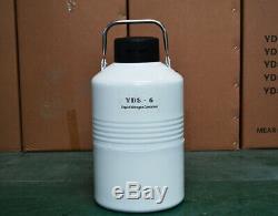 TIANCHI Liquid Nitrogen Tanks Container yds-6L Cryo Ln2 Dewar Semen Tank Flask
