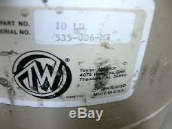 Taylor Wharton 10 LD 10 Liter Liquid Nitrogen Cryogenic Storage Dewar 10LD