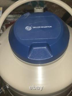 Taylor Wharton 10LD LIQUID NITROGEN DEWAR CRYOGENICS CANISTER