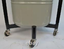 Taylor-Wharton 25LDB 25L Liquid Nitrogen Storage Dewar Tank with Regulator + Cart