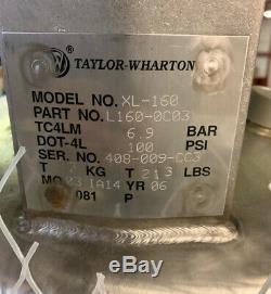 Taylor Wharton XL-160 Liquid Nitrogen Dewar 160L For Mass Spectrometer or SEM