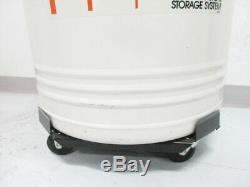 Thermolyne Locator 4 Cryogenic Storage Dewar & Liquid Nitrogen Monitor & Cart