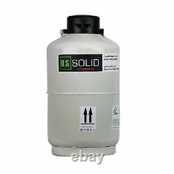 U. S. SOLID 10L Cryogenic Container Liquid Nitrogen LN2 Tank Dewar with Straps