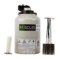 U. S. Solid Liquid Nitrogen Tank 6 L Container Dewar LN2 Cryogenic 6 Canisters