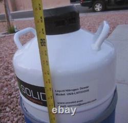 US Solid 20L Liquid Nitrogen Tank Dewar Cryogenic Container w Sleeve & Inserts