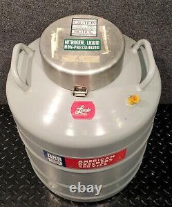 Union Carbide Linde Super 30 Liquid Nitrogen Cryogenics Dewar, 4 Dipper / Ladles