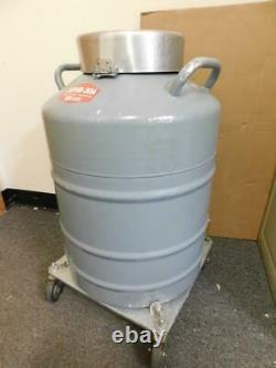 Union Carbide Super-30A Liquid Nitrogen Dewar with Rolling Base