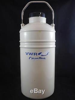 VWR CryoPro 4.3L LN2 Liquid Nitrogen Dewar Vapor Shipper V-48