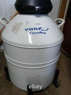 VWR CryoPro Liquid Nitrogen Dewar CC-3 with 6 11 inch Canisters LAB Medical
