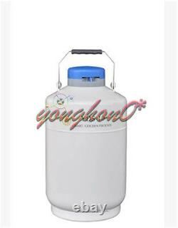 YDS-10 10L Cryogenic Liquid Nitrogen Container LN2 Tank Dewar with Straps
