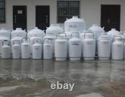 YDS-10-80 Cryo Liquid Nitrogen Container 10L Dewar Tank 10 Liter With 6 Canister