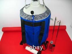 YDS-6 6L Cryogenic Liquid Nitrogen Container LN2 Tank Dewar Strap zh
