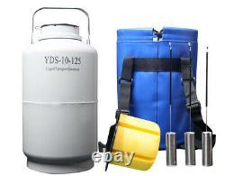 Yds-10-125 liquid nitrogen tanks 10 liter liquid nitrogen dewar containers ln2